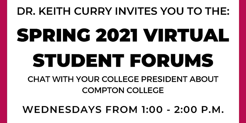 Spring 2021 Student Forums