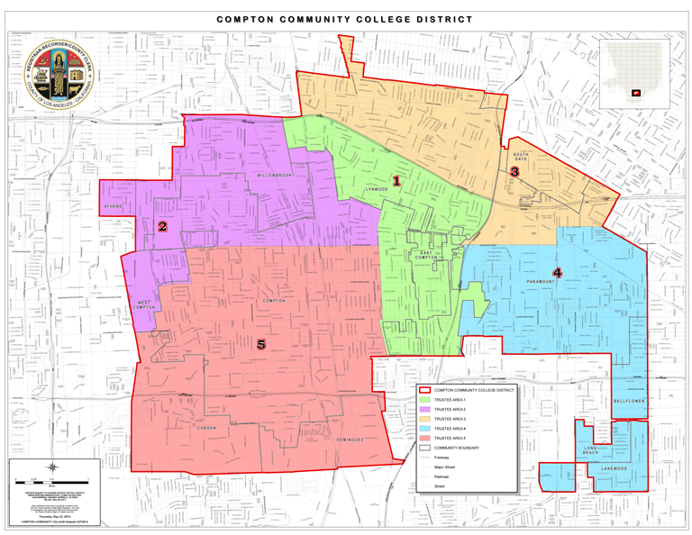 Compton Community College District - District Map and Boundaries on los angeles map, chualar map, gardena map, forrest park map, auberry map, long beach map, tyndall map, grimaldi map, 1000 palms map, cutler map, cedar ridge map, hope ranch map, california map, downieville map, crenshaw map, burbank studios map, angels camp map, la trade tech map, la county map, inglewood map,